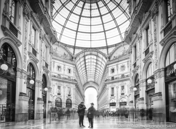 A Quiet moment at Galleria Vittorio Emanuele in Milan Italy