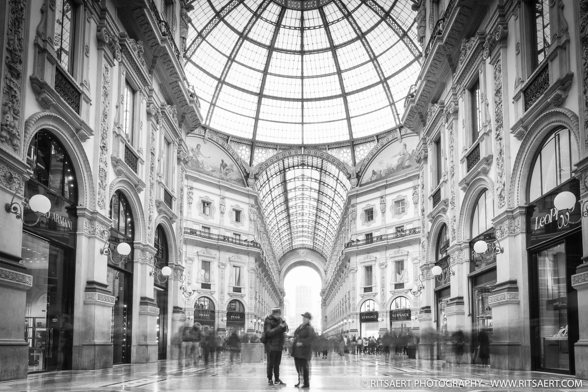 A Quiet moment at Galleria Vittorio Emanuele in Milan Italy