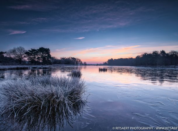 A winter image of the Markkumerplas near Dwingelo Holland
