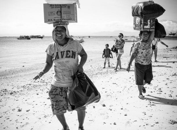 Should I carry your bag sir? - Bali - Indonesia