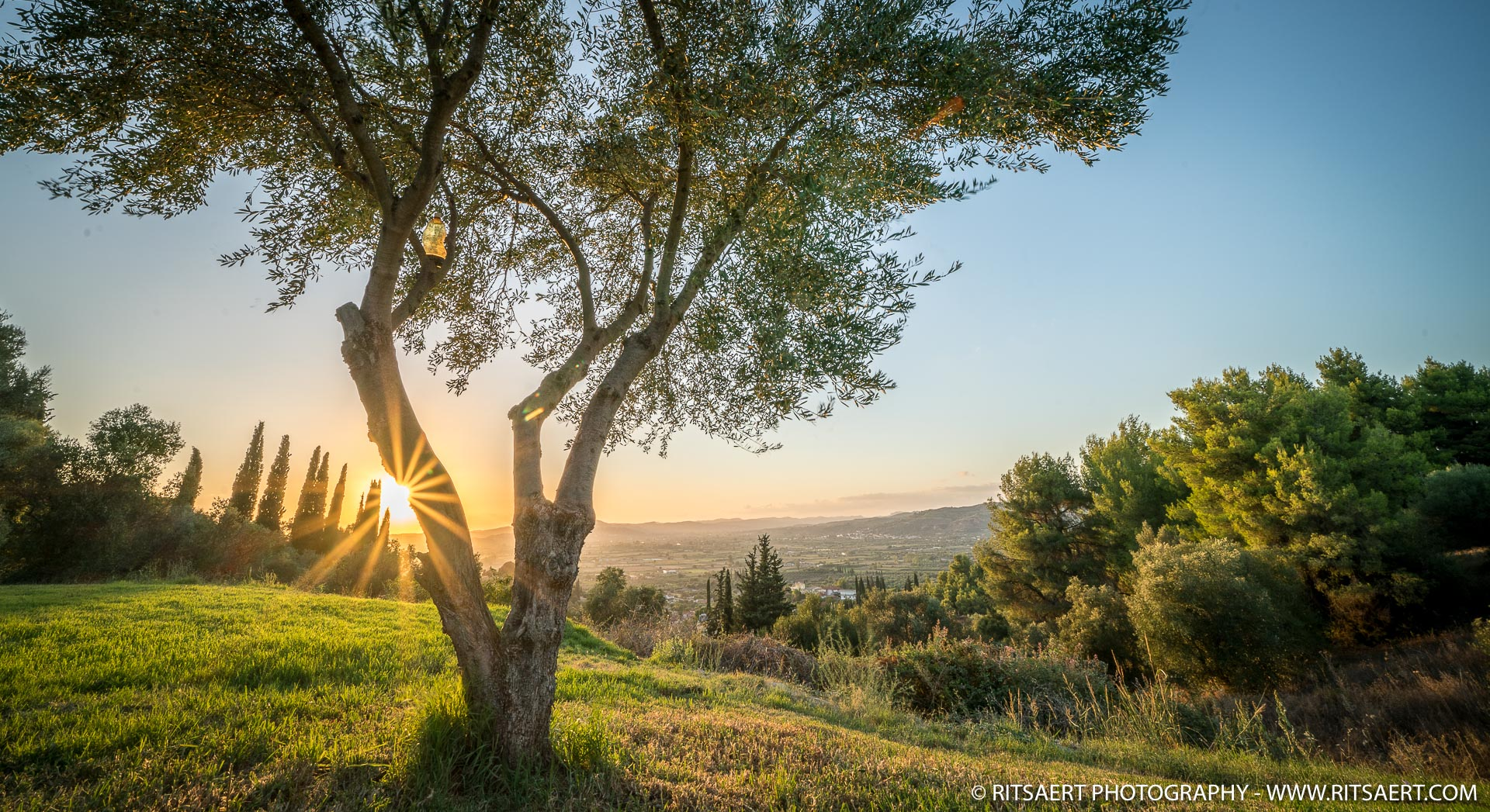 Sunset at Olympia - Greece