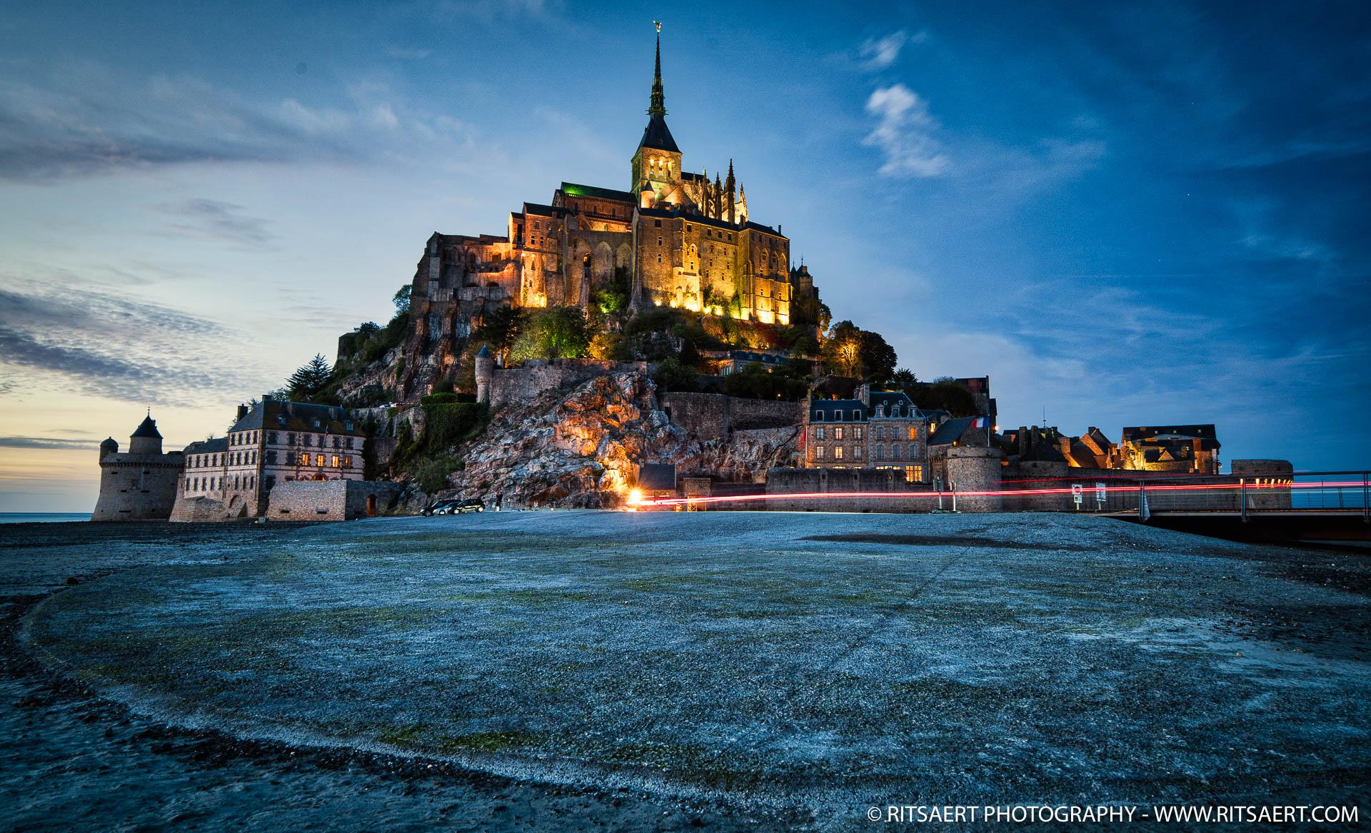 Sunset at Mont Saint-Michel - France