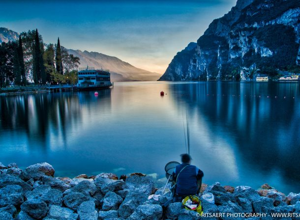 Fisherman in Riva del Garda - Italy